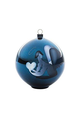 Alessi Blue Christmas AAA07 2 Decorazione per Albero di Natale, Vetro soffiato, Blu, 10x10x10.70 cm
