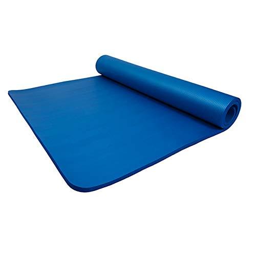 COVER.J - Esterilla de gimnasia para pilates, supergruesa y ancha, con bolsa de almacenamiento, 200 x 100 x 2 cm, color morado, azul y rosa
