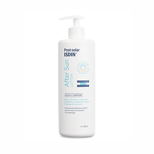 ISDIN After Sun Lotion, Efecto calmante y refrescante, hidratación y reparación intensa - 400 ml