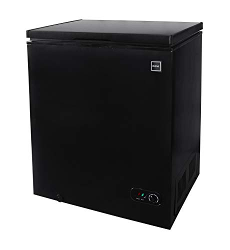 RCA FRF454-B-BLACK RFRF510-BLACK 5.1 Cubic Feet Chest Freezer, 5 cu ft, Black