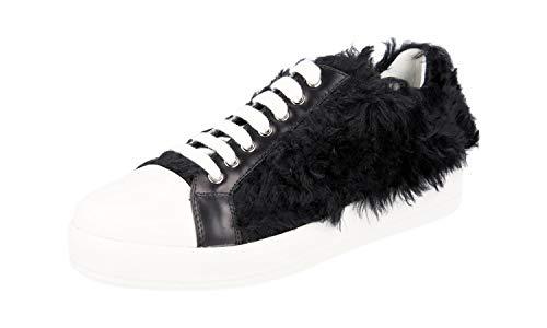 Prada Damen Schwarz Leder Sneaker 3E6299 38.5 EU