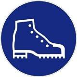 Señal de seguridad – Uso de zapatos de seguridad – plástico – Ø 40 cm