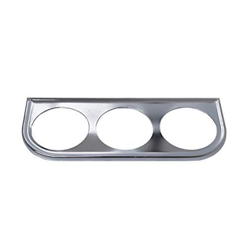 VOSAREA Support de Support pour Porte-gobelet à Double jauge de 52 mm Support pour Tableau de Bord en Fer (Argent)