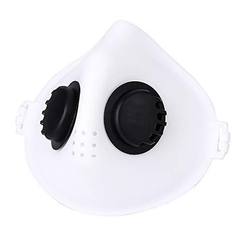 SCHOLIEBEN VáLvula De RespiracióN Al Aire Libre Protectora A Prueba De Polvo Antivaho Y Neblina White