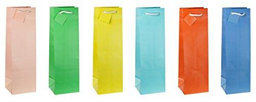 TSI 86291 cadeauzakje trendkleuren, verpakking van 12 stuks, afmeting: fles (33 x 10 x 9 cm)