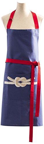 Coucke - Bords de Mer - Tablier Coton Bleu/Beige