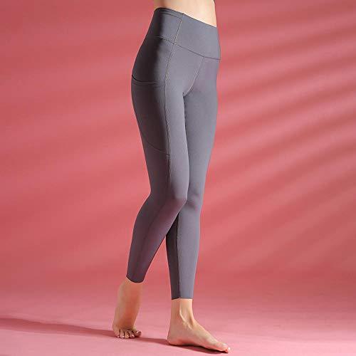 LYWZX Leggings De Yoga para Mujeres Energy Leggings For Fitness Squatproof Plain Women Yoga Pants Push Up High Waist Leggigns Fitness For Women Sportswear-A_L