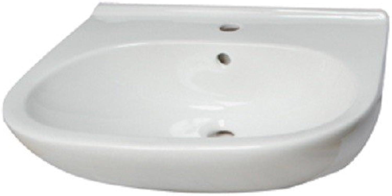 O.NOVO Waschtisch 600 x 490 mm mit überlauf wei