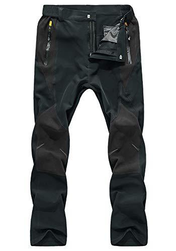 KEFITEVD フィッシングウェア パンツ 撥水 釣り ファッション トレッキングウェア ミリタリー キャンプパンツ 自転車 ズボン メンズ 登山パンツ ダークグレー JP 3XL