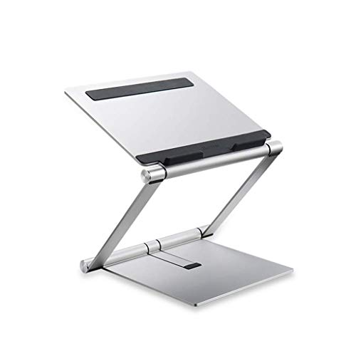HYY-YY Portable Vertical Laptop Tablet Stand, Cooling Pad Notebook Holder Foldable Computer Phone Holder Aluminum Alloy Portable Radiator Tabletop Shelf Silver