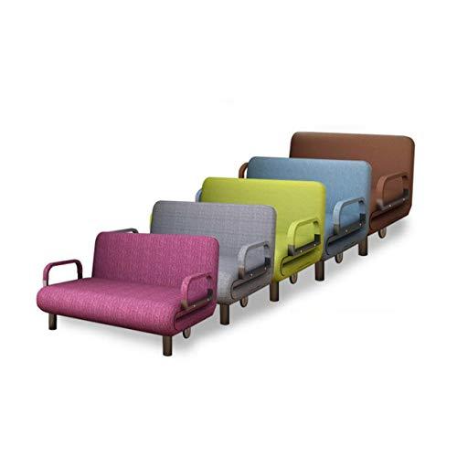 HENG opklapbed, slaapbank, opklapbed voor tweeërlei gebruik, woonkamer, eenpersoonsbed, tweepersoonsbed, multifunctioneel opklapbed, roos, lichtblauw, grijs, bruin, groen (80/100/120cm breed)