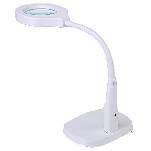 MSXBMSY Electronic Magnifier Luz LED Lupa 10x Lupa 20x Asistente de Juego Lupa Lámpara de Escritorio Lupa Lupa multifunción Lupa Lupa Jade Reconocimiento Antiguo Lupa Día del Padre GIF