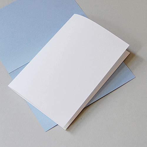 100 naturweiße Einlegeblätter 14,5 x 20,3 cm, Munken Lynx 90 g/qm (zum einmal Falten für Klappkarten DIN A6)
