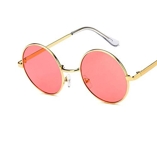 Gafas de Sol Gafas De Sol Clásicas con Montura Redonda para Hombres Y Mujeres, Gafas De Sol Universales con Montura De Metal Vintage, Gafas De Sol con Lentes Oceánicas Uv400 10