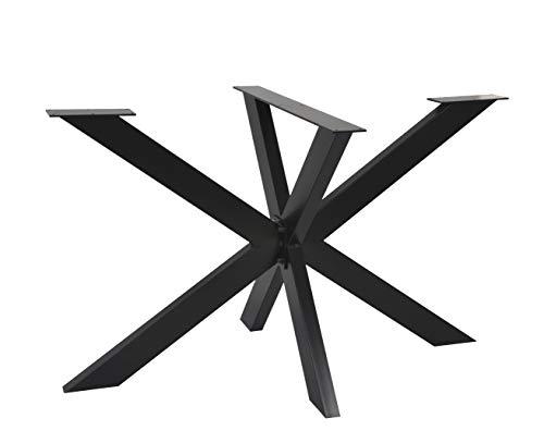 Magnetic Mobel Tischgestell Spider Tischbeine Kreuzgestell Tischkufen Stahl Metall Esstisch Schreibtisch Konferenztisch 120x70 cm (Schwarz)