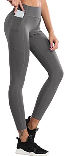 SEAUR Leggings deportivos para mujer, bolsillos laterales, yoga, fitness, gimnasio, correr, cintura alta, cómodo, secado rápido