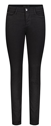 MAC Jeans Damen Skinny Slim Jeans, Schwarz (Black-Black D999), W36/L32 (Herstellergröße: 36/32)