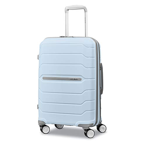 Samsonite Freeform Hardside Expandable with Double Spinner Wheels, Powder Blue, Carry-On 21-Inch