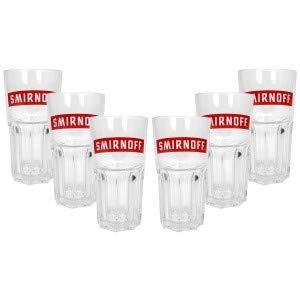 Smirnoff Peppermint Twist Longdrink Glas Gläser - 6er Set