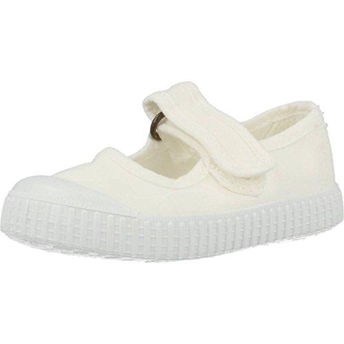 victoria Unisex Baby 1915 Mercedes Velcro Lona Tintada Sneaker, Weiß (Blanco 20), 21 EU