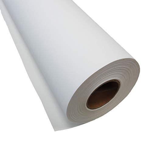 Inkjet Canvas Roll for Wide Format Inkjet Printing, 44' x 75' roll, 100% Matte Polyester Canvas by Plotter Paper Direct
