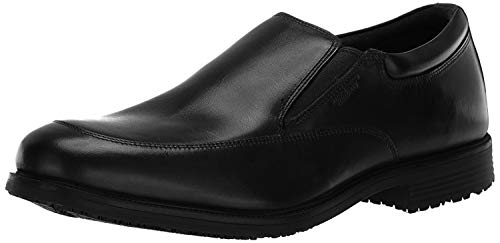 Rockport Men's Lead the Pack Slip-On Black WP Leather 13 W (EE)-13 W
