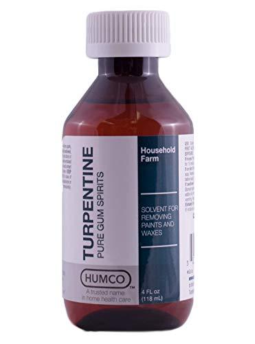 TURPENTINE - 94394 Pure Turpentine Gum Spirits, 4oz