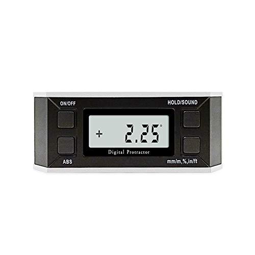 Digital Angle Gauge Level Box, Digital Level Box Winkelmesser Winkelsucher 360 ° -Digitalanzeigewinkelkasten Mit Magnetischem Adsorptionsdesign (Aluminiumlegierung)