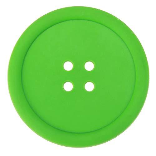 DFGY Tovaglietta Rotondo in Silicone Button Tavolo Isolante Tappetino Antiscivolo Tazza Tappetino Resistente al Calore Tovagliette Verde
