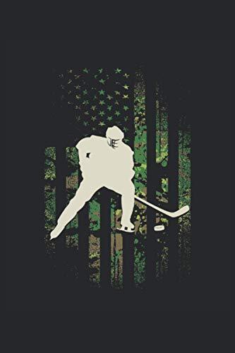 Notizbuch: Blanko Notizheft mit Eishockey Cover | 120 linierte Seiten | Softcover | A5 Format | perfekt für Notizen, Texte, Aufzeichnungen etc.
