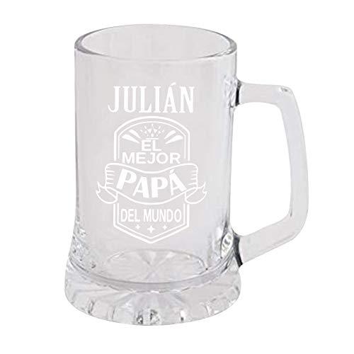OSTELY Taza de cerveza de cristal grande de 473 ml, cristal transparente grueso, regalo perfecto para el día del padre