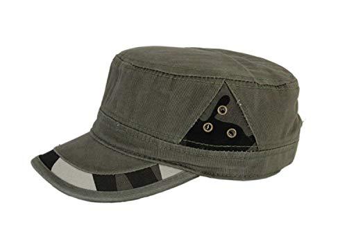 Leoodo Herren Damen Military Army Stil Cap aus Baumwolle verstellbare Sonnen Kappe für Wandern und Sport, Mütze Farbe 2020:Camouflage Grün