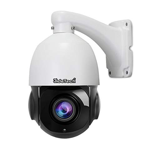 High Speed 5MP Smart 265 PTZ POE IP Security Dome Camera with 20X Optical Zoom Pan/Tilt and Waterproof IR-Cut Night Vision for Indoor and Outdoor Security