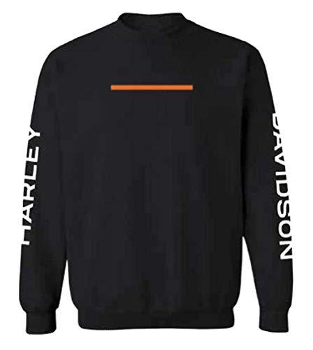 Harley-Davidson Men's Hyphen Crew-Neck Pullover Sweatshirt 96487-20VM (XL) Black