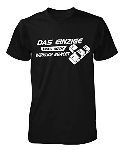 WASD Das einzige was Mich wirklich bewegt T-Shirt Fun Shirt Gamer zocker Nerd