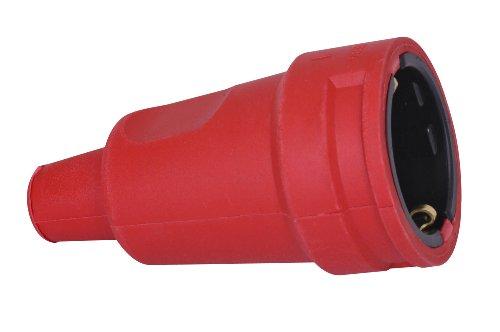 Kopp 180412000 Schutzkontakt-Gummikupplung mit Knickschutztülle, rot