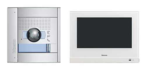 Legrand 905220 Flex One - Videoportero automático (1 casa familiar, monitor táctil de 2 cables de 7 pulgadas y Wi-Fi, 135°/96° y cámara iluminada LED, almacenamiento de vídeo, IP54, IK10, 905220)