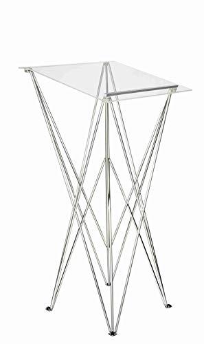 Spider Pult – Stehpult faltbar, leicht und stabil – Schreibpult mobil in verschiedenen Höhen und Farben - Aluminium und Acryl - Rednerpult (transparent, Höhe 115 cm)