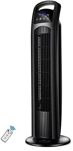 FGDFGDG Silenziatore del Ventilatore della Torre del piedistallo del Battente con Telecomando, modalità a 3 velocità, Timer 9h, Raffreddamento Regolabile Senza in Piedi Bianco
