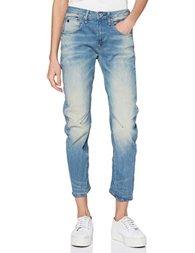 G-STAR RAW Damen Jeans Arc 3d Low Waist Boyfriend Jeans, Blau (Light Aged 424), 24W / 30L