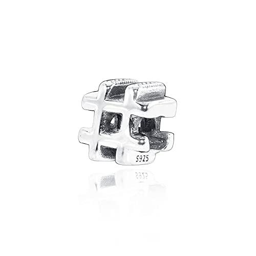 LIIHVYI Pandora Charms para Mujeres Cuentas Plata De Ley 925 Clip De Letra Reflexion DIY Jewelry Compatible con Pulseras Europeos Collars