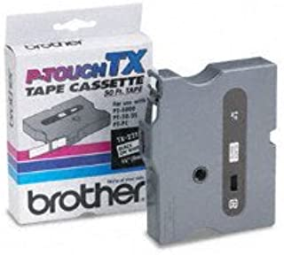 """Genuine Brother 3/8"""" (9mm) Black on White TX P-touch Tape for Brother PT-30, PT30 Label Maker"""
