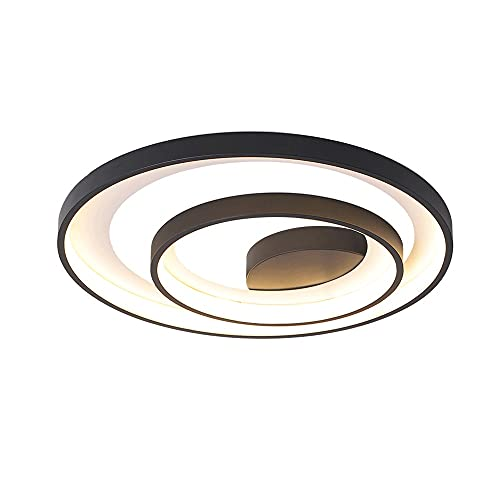 Lámpara de techo negro diseño circular simple lámpara de techo acrílico creativo + accesorios de iluminación de metal led decoración interior lámpara de techo balcón dormitorio sala de estar restauran