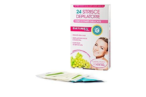 Satinex 24 Strisce Depilatorie Viso - 20 ml