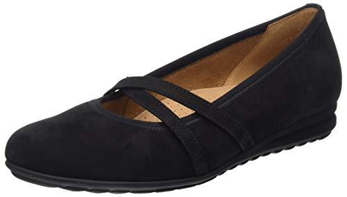 Gabor Shoes Damen Comfort Sport Geschlossene Ballerinas, Schwarz (Schwarz 47), 37 EU