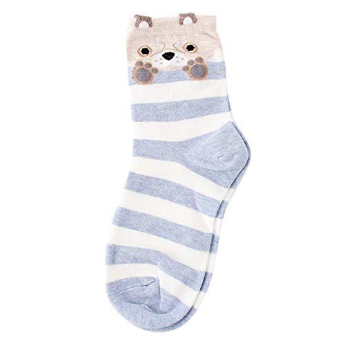 URIBAKY - Calcetines de fantasía para mujer (algodón de invierno) gris Talla única
