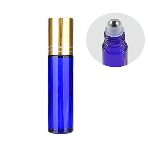 Flacon Vide Roll on Flacon Vide Voyage Parfait pour Les Huiles Essentielles Bouteilles D'huile Essentielle Bouteilles en Verre Parfum Blue