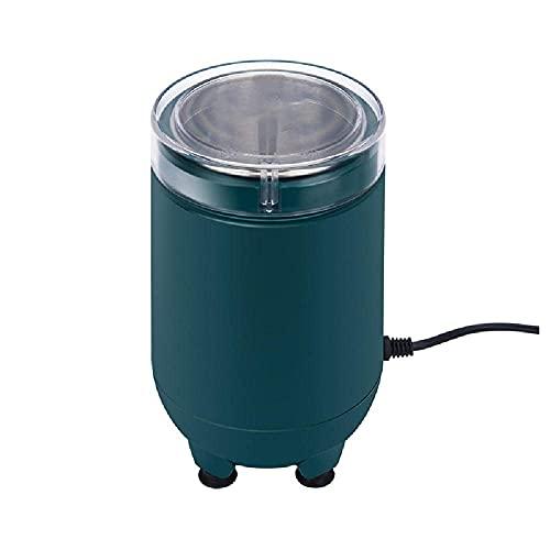 Molinillo de pimienta eléctrico, multifunción para el hogar, de alta potencia, automático, con taza de acero inoxidable y tapa transparente, fácil de limpiar, contenedor de almacenamiento para molien
