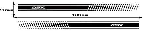 YDL Pegatinas 2 Unids Coche Etiqueta Engomada con Estilo Coche Pegatina Cuerpo De Cuerpo Vinilo Cuerpo Calcomanía Stripas Stripas para ASX (Size : Black)