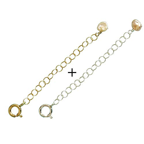 Efy Tal Jewelry Women's Necklace Extender Chain Removable and Adjustable Sterling Silver or 14k Gold Filled Extension 2'